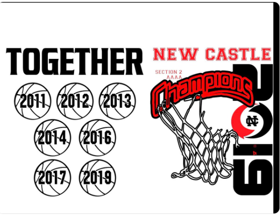 Congratulations New Castle High's School Basketball Team Section Champs!!!