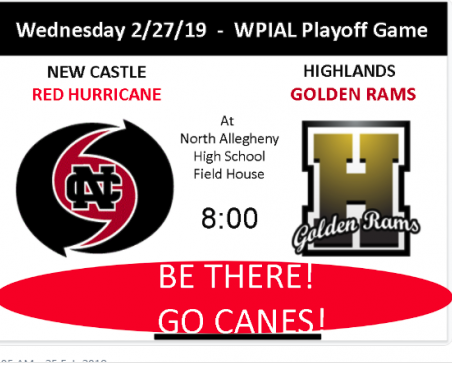 Friday 3/8/19 – PIAA (State) Playoff Game