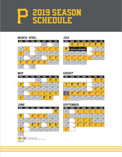 Pirates 2019 Schedule Pittsburgh Pirates 2019 Season Preview – Eye of the Hurricane