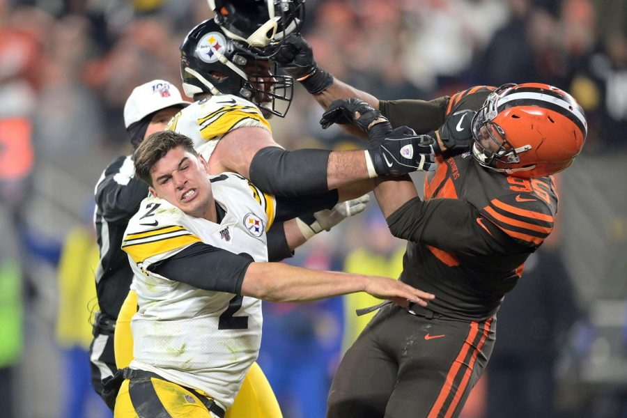 Browns Cause Chaos The Helmet Incident